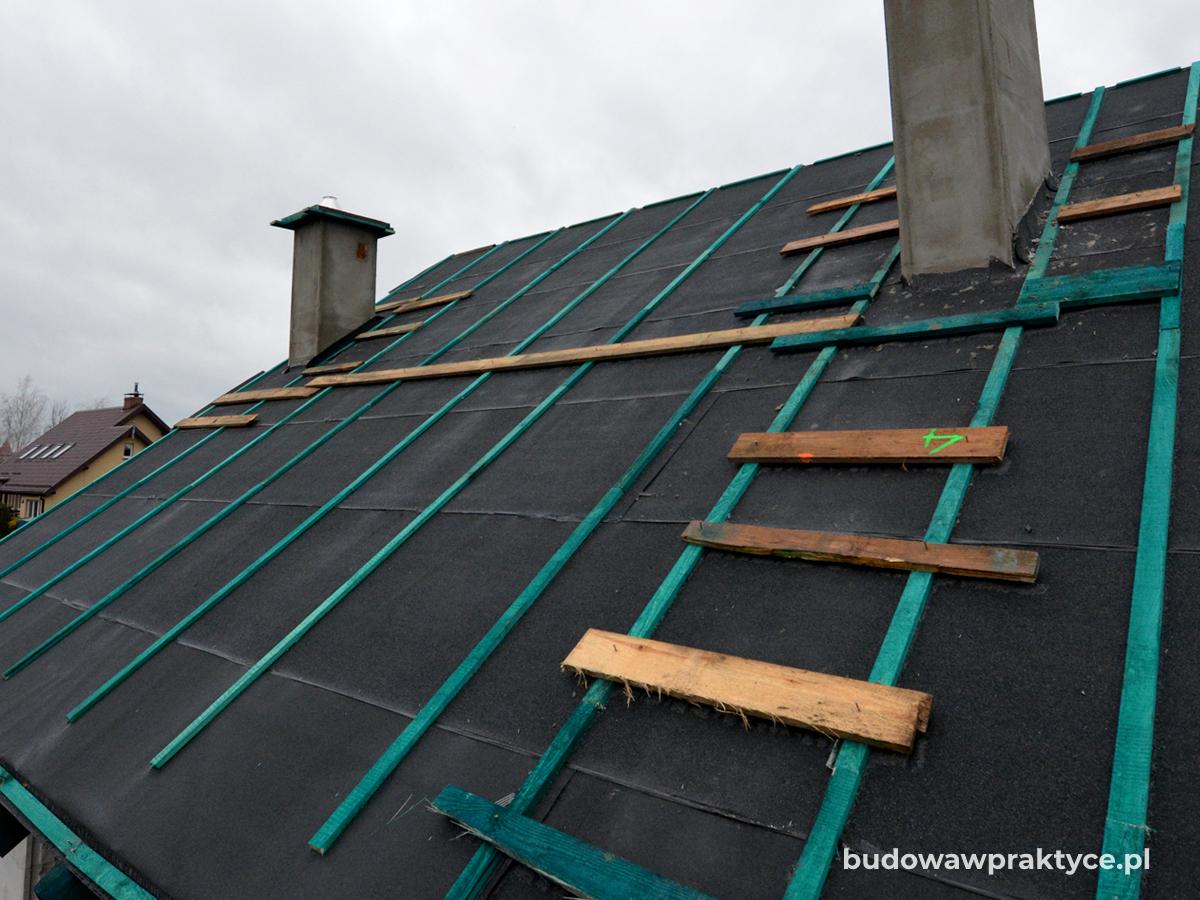 wstępne krycie dachu papą